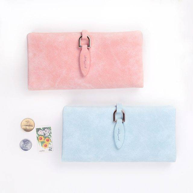 Women's Velvet Marble Leather Wallet Clutches & Wallets Color : Pink|Light Blue|Dark Blue|Rose red|Brown|Black
