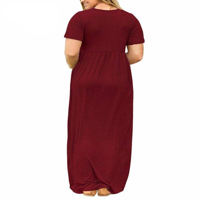 Women's Plus Size Vintage Draped Dress