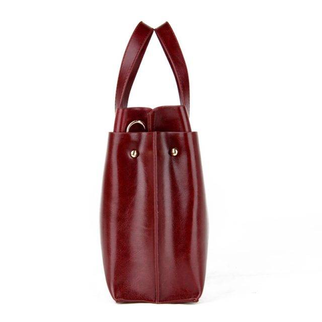 Stylish Women's Faux Leather Shoulder Bag Bags & Backpacks Color : Black|Blue|Brown|Red wine