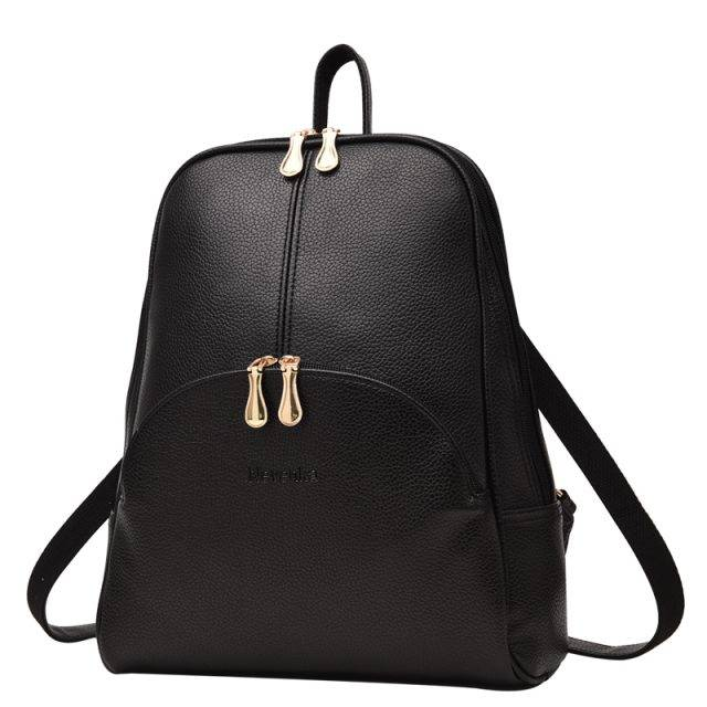 Women's Small Leather Backpack Bags & Backpacks Color: Black