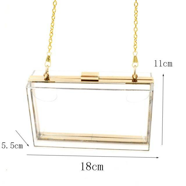 Acrylic Transparent Clutch for Women