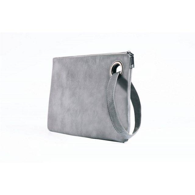 Women's Large Suede Clutch Bag