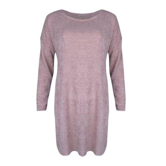 Women's O-Neck Pullover Dress