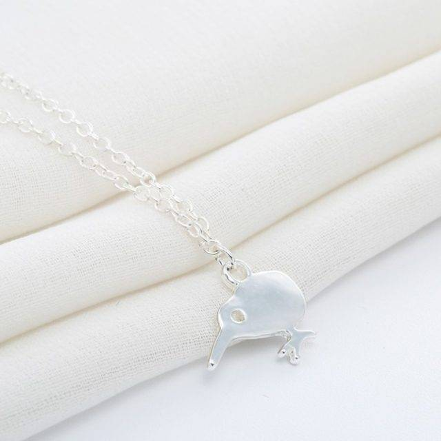 Cute Minimalist Kiwi Bird Necklace Jewelry Pendants & Necklaces Color : Gold|Silver