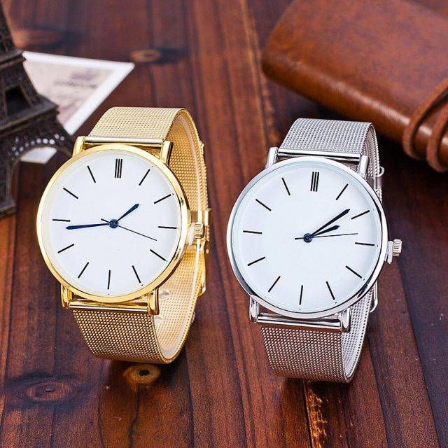 Women's Stainless Steel Mesh Band Watches Watches Color : Silver|Gold