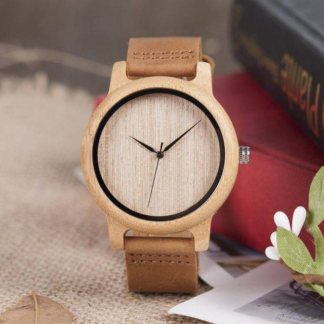 Cute Casual Quartz Wood Unisex Wristwatch