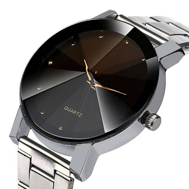 Fashion Quartz Stainless Steel Unisex Wristwatch