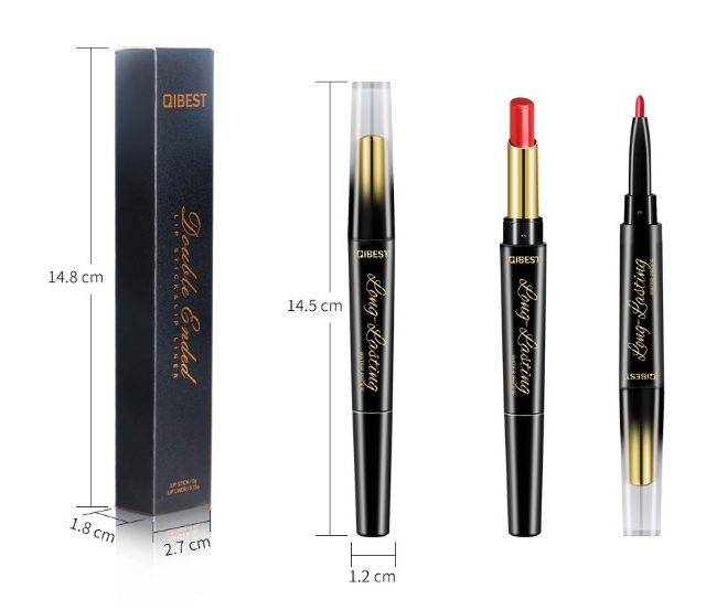 2 in 1 Waterproof Lipstick and Lip Liner Lips Makeup & Beauty Color : I want U|Close to U|Ego Trips|Say My Name|Molly|Shivers|One Wish|Fight|Lay Me Down|Weekend|Berry|Little Mama|Stay Up|Pink Champagne|Melody|Lip Brush